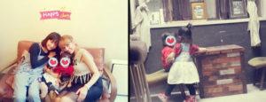 SHEILAブログの田中圭の嫁さくらと子供の写真