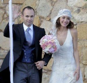 イニエスタ選手と嫁のアンナさんの結婚式