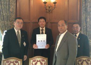 大坂鉄夫参議院に根室の水産の要望を伝える