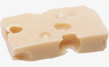 穴あきチーズの塊