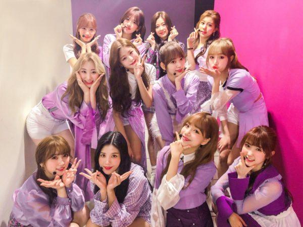 ラビアンローズ紫の衣装のIZ*ONE