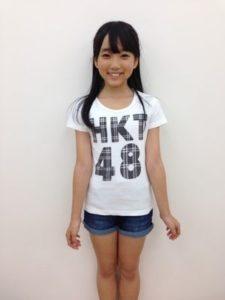 2013年HKT48メンバーになった白T短パンの矢吹奈子