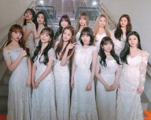 白いロングドレスのizoneメンバー