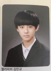 キムミンギュの小学校の卒業アルバム画像