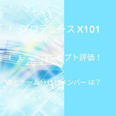 プロデュースX101コンセプト評価チーム分けとメンバーは?の文字が入った画像